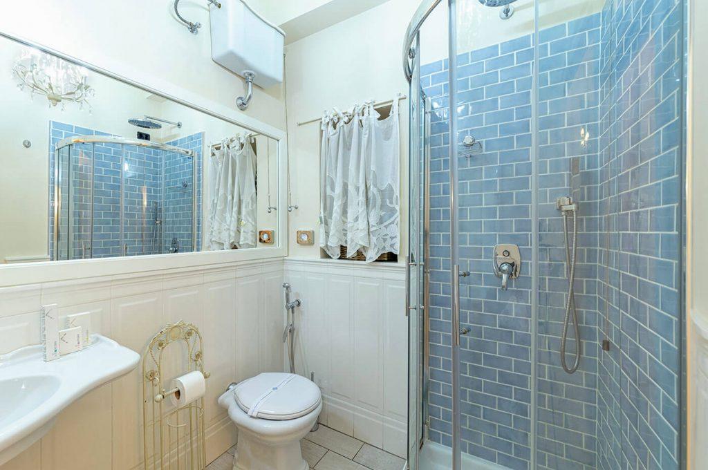Bagno della suite Junior dell'Hotel Pompei