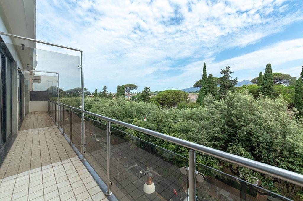 Vista panoramica dalle camere suite dell'Hotel Pompei