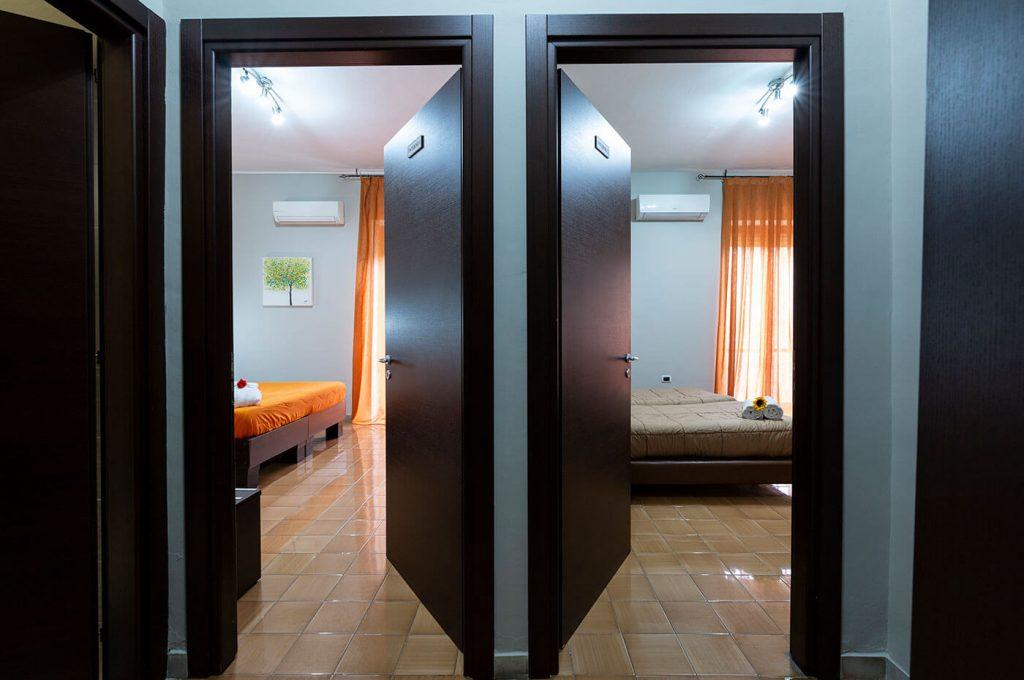 Camera doppia family dell'Hotel del Sole a Pompei