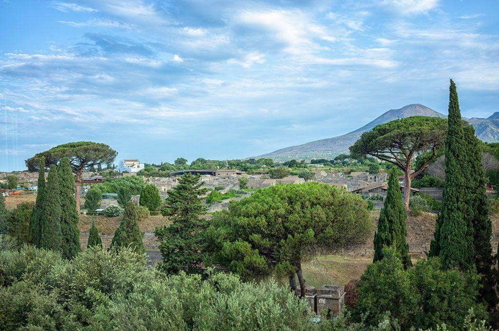 Panorama su Pompei dal Pub Hermes