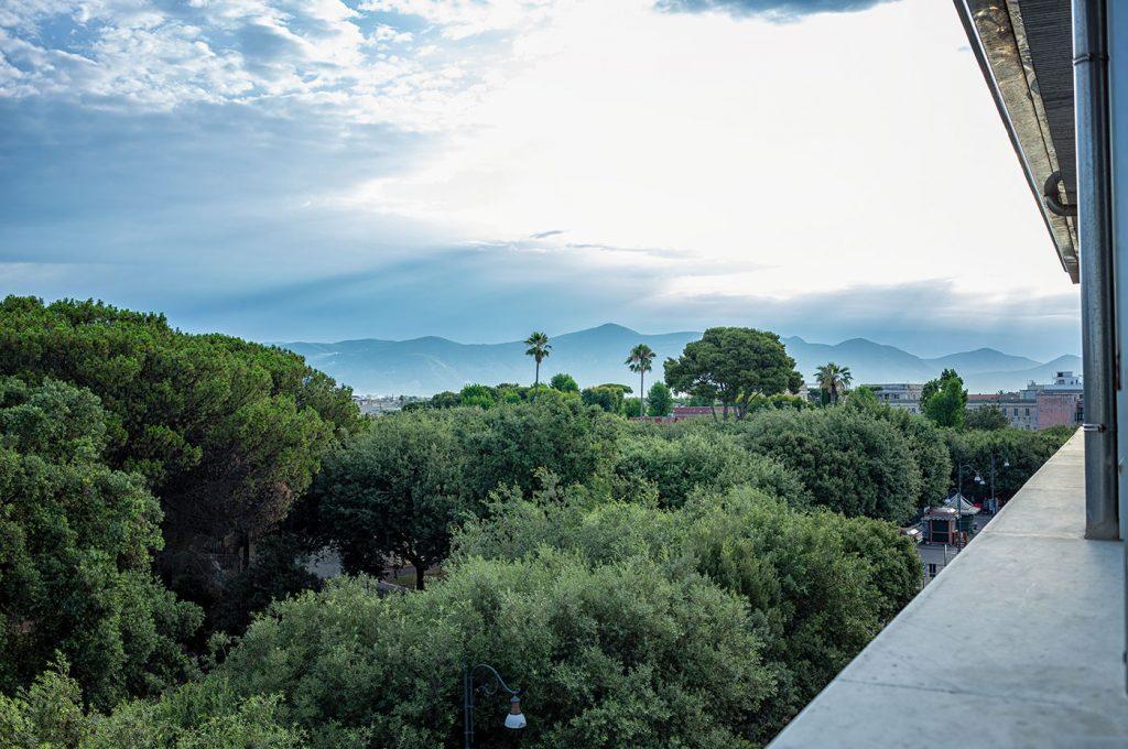 Panorama su Pompei dal Pub Hermes Hotel a Pompei