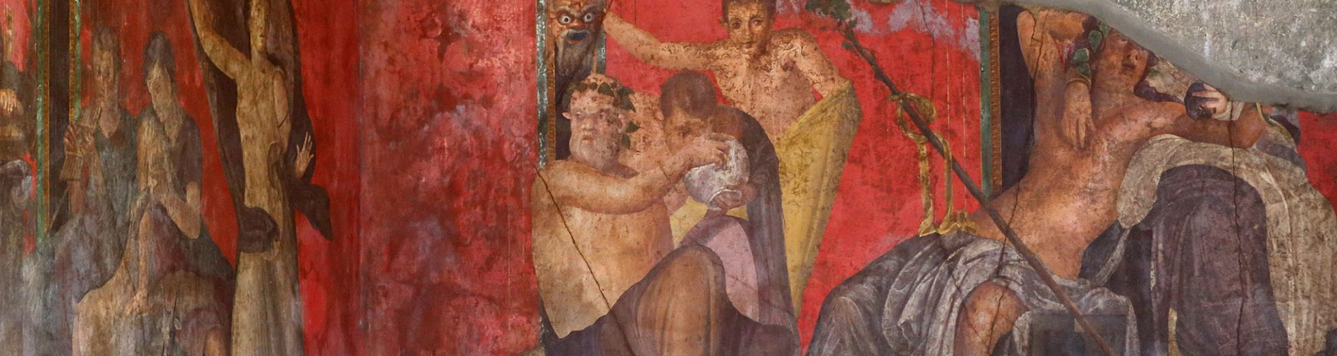 Particolare affresco scavi archeologici di Pompei