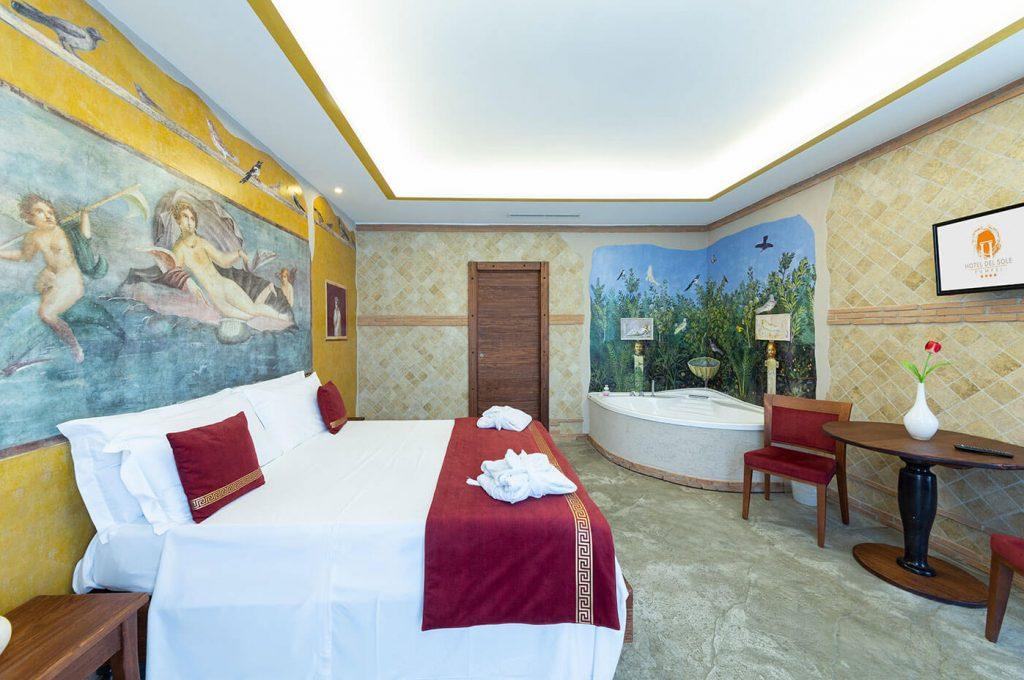 Idromassaggio della suite Venere Hotel Pompei