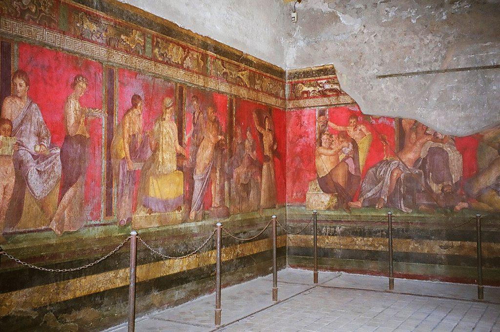 Particolare degli scavi di Pompei