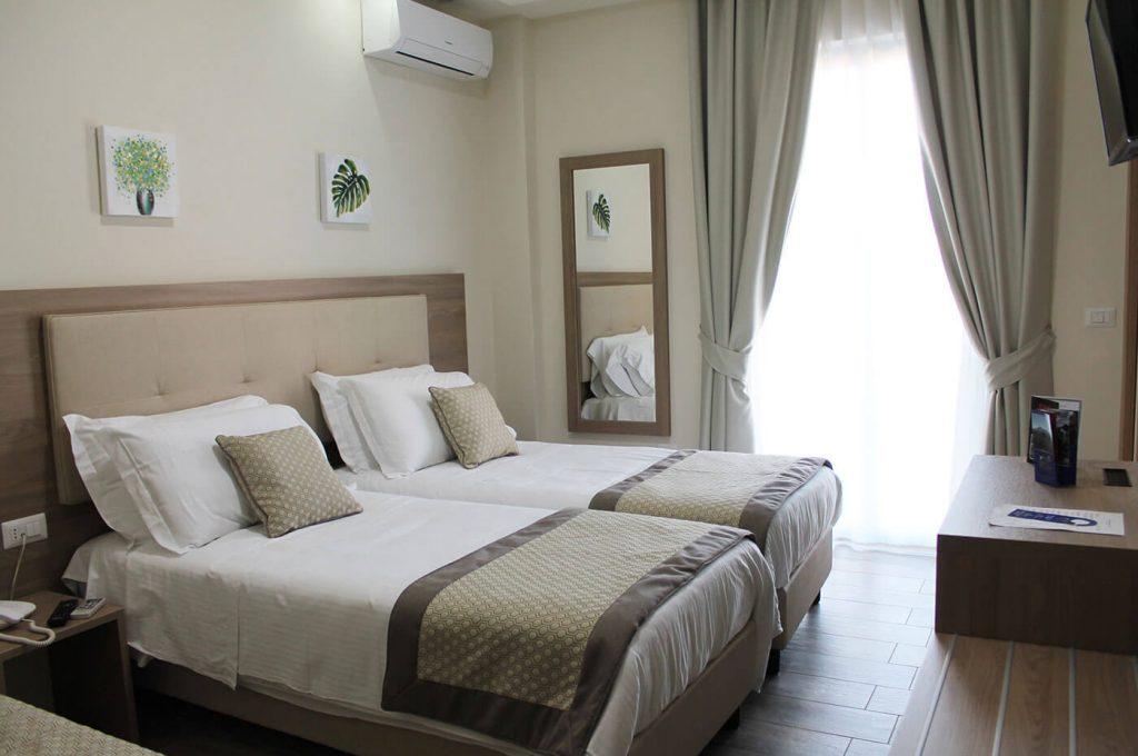 Letti singoli della camera Twin Hotel a Pompei