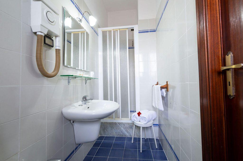 Particolare del bagno camere economy Hotel Pompei