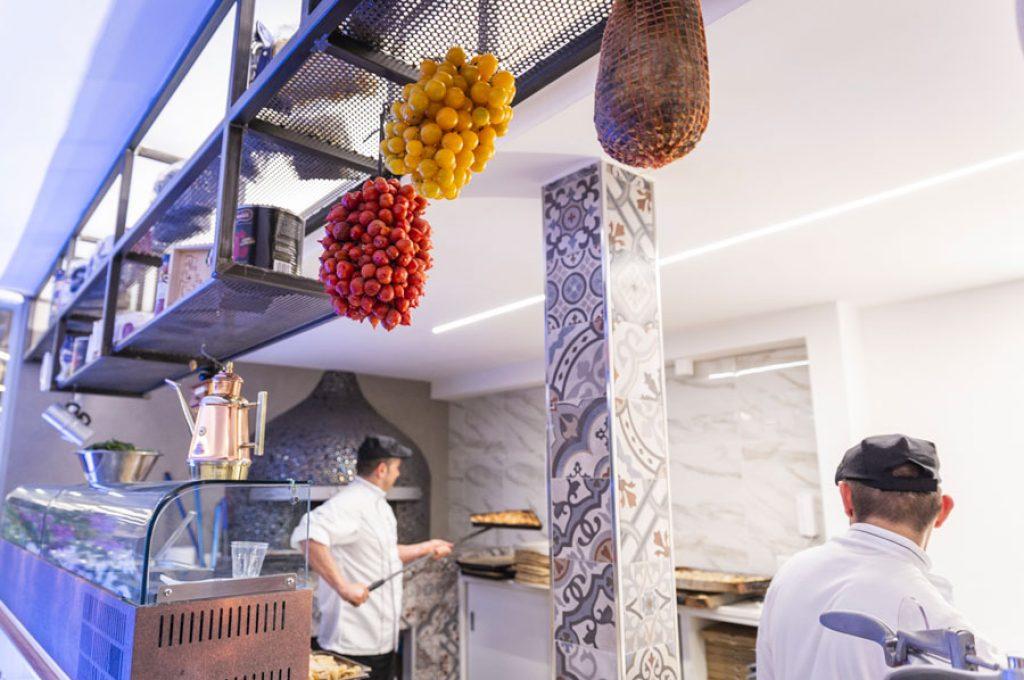 La cucina del ristorante Varnelli a Pompei