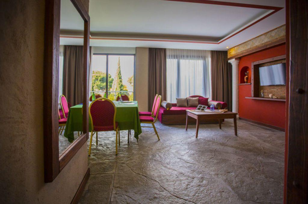 La sala meeting dell'Hotel del Sole a Pompei
