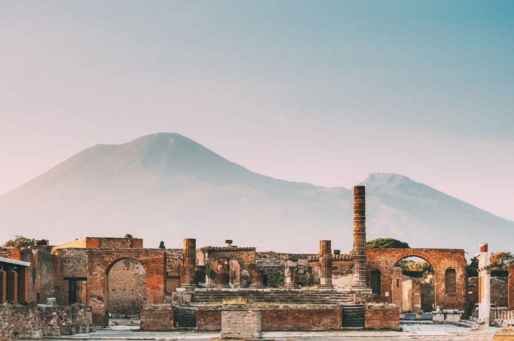 Area degli scavi di Pompei intorno all'hotel