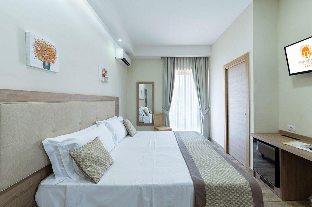 Scorcio della camera quadrupla dell'Hotel a Pompei