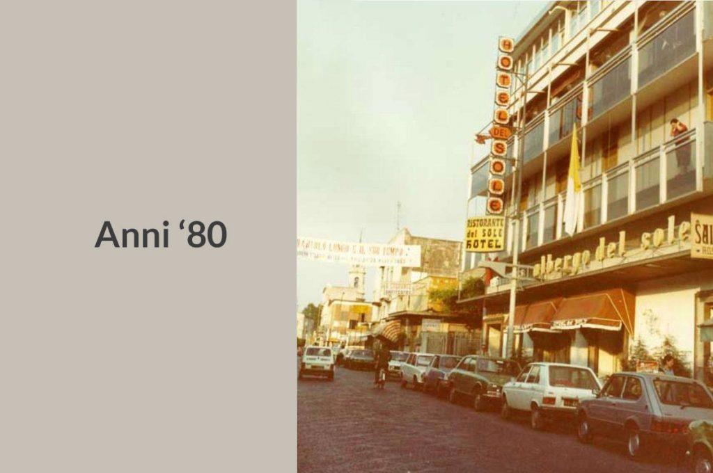 Foto storica dell'Hotel del Sole a Pompei