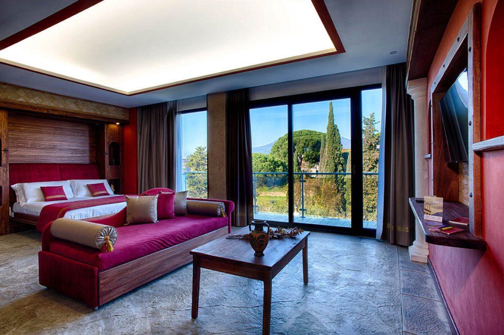 Vista della suite Villa dei Misteri Pompei